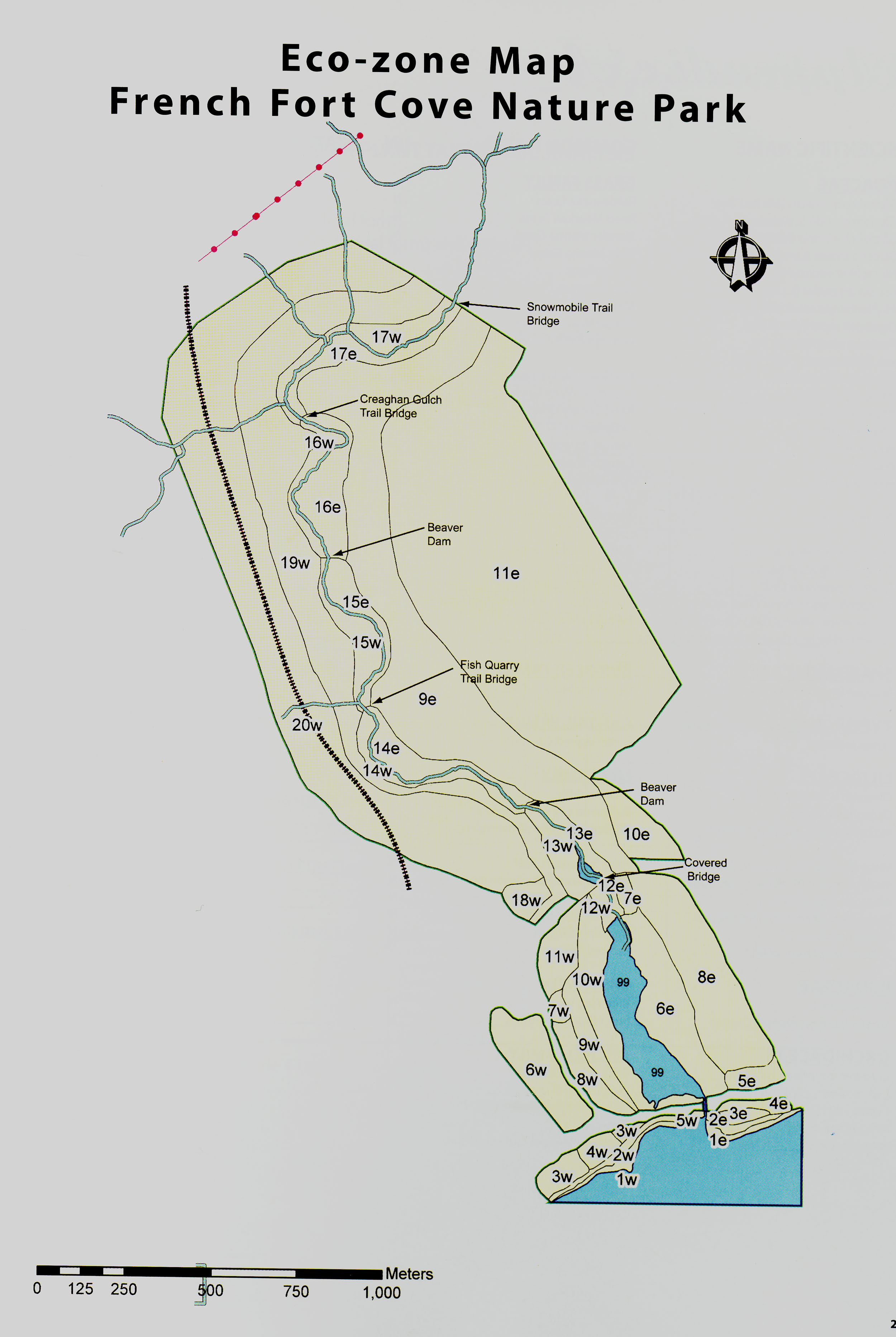 Eco-zone Map: French Fort Cove Nature Park